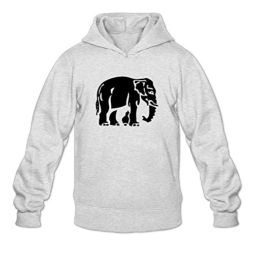 Artphoto Men's Cool Elephant Crossing Sign Hoodies Sweatshirt L ()