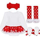 Bigface Up Baby Girls My First Christmas Costume Party Dress Tutu Outfits 4PCS Set