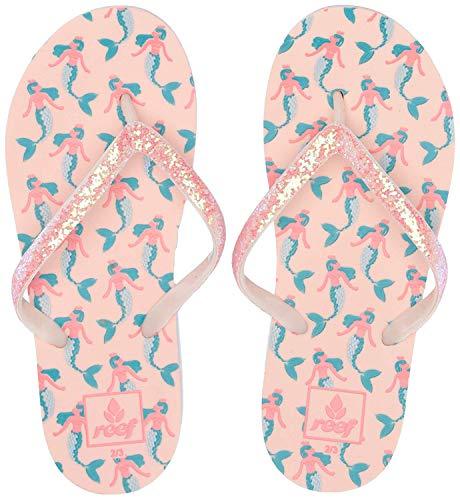 Reef Girls Stargazer Prints Sandal, Mermaid, 2-3 Medium US Little Kid ()
