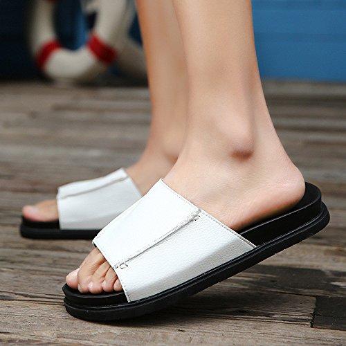 Il nuovo sandali alunno Antiscivolo parte inferiore moda selvaggio Il nuovo Tempo libero sandali Uomini .bianca.US=9.5,UK=9,EU=43 1/3,CN=45