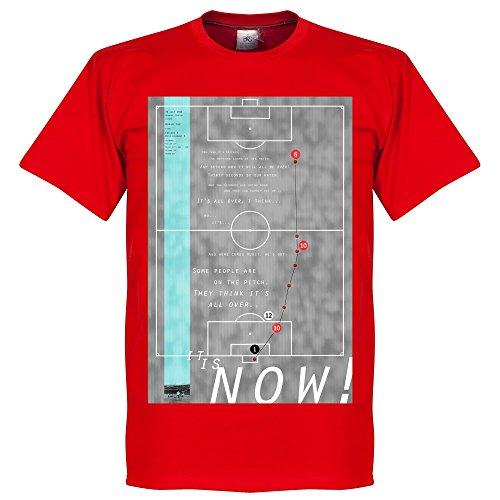 Pennarello Geoff Hurst 1966Classic Goal maglietta–rosso