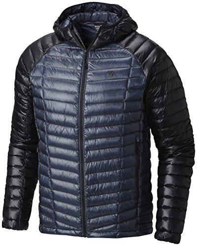 Mountain Hardwear Ghost Whisperer Down Hooded Jacket - Men's Zinc/Black Large