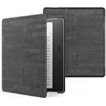MoKo Case for All-New Kindle Oasis (9th Generation, 2017 Release) - Premium Ultra Lightweight Shell Cover with Auto Wake / Sleep for Amazon Kindle Oasis E-reader Case, Slate BLACK