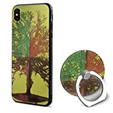 Phone X Case 4 Season Tree of Life Painting Ring Cell Phone Holder