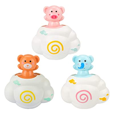 TOYANDONA 3pcs Bath Toys Shower Spray Animal Cloud Water Spout Fountain Spray Bath Time for Baby Shower Bathtub Swimming Pool: Toys & Games