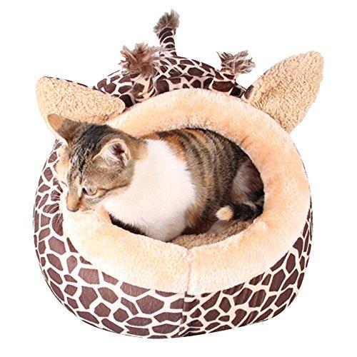 good Petacc Pet Bed Adorable Dog Cuddler Warm Pet Lounge, Cute Giraffe Pattern