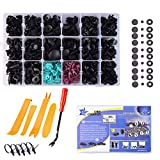 324PCS Car Push Retainer Clips Kit Plastic Rivets Fasteners Door Panel Trim Clips Kit with Free Fastener Remover for Toyota Honda GM Ford Chrysler