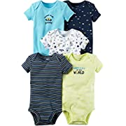 Carter's Baby Boys' 5-Pack Space Print Bodysuits Newborn