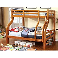 HOMES: Inside + Out ioHOMES Curlie Bunk Bed, Twin/Full, Oak