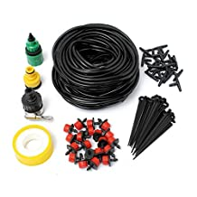 Doitb 18m Hose Micro Drip Irrigation Sprinkler System Kit Garden Greenhouse Landscaping Plant Tubing Watering Drip Kit Accessories