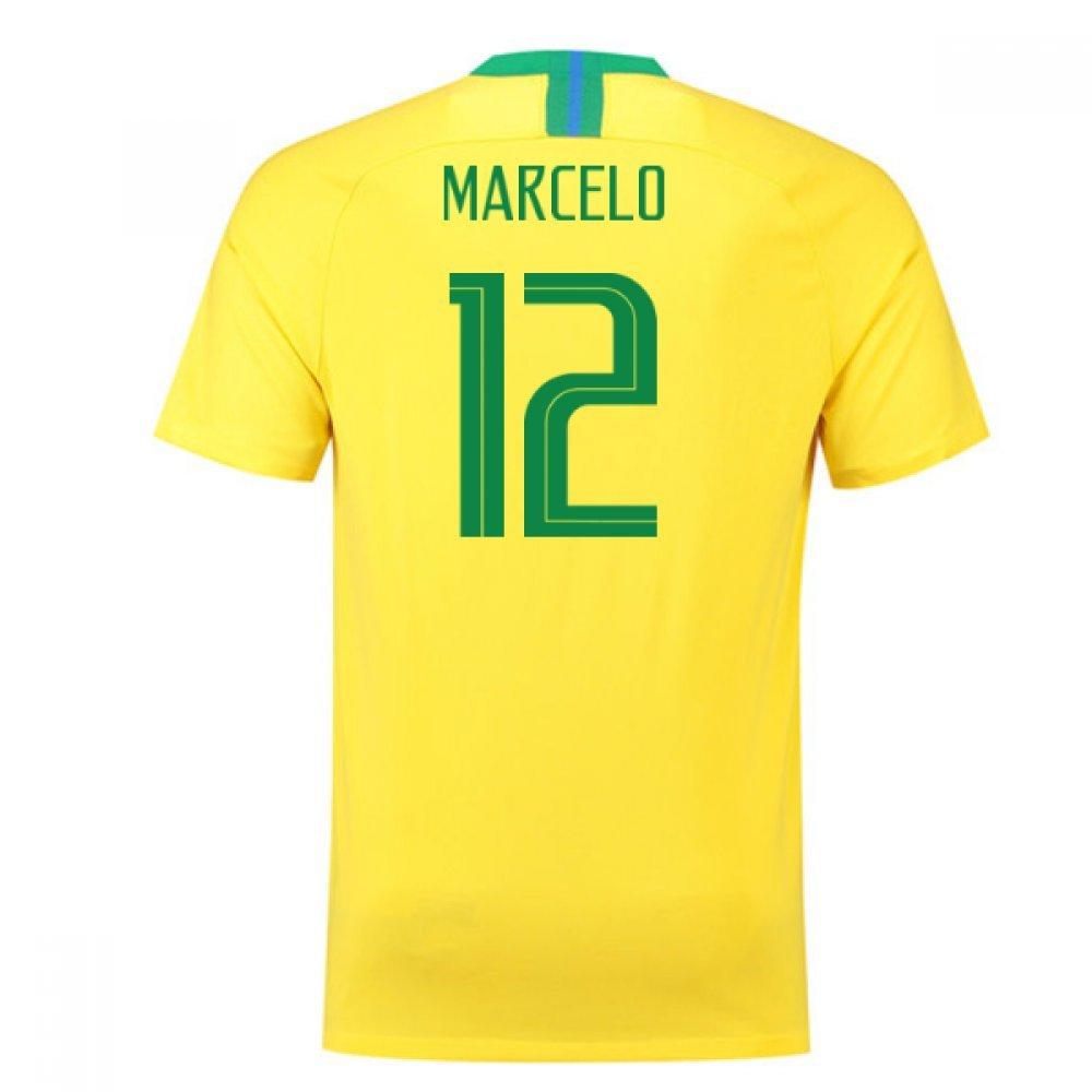 【後払い手数料無料】 2018-2019 Brazil Home (88/96cm) Nike Football Shirt (Marcelo 12) Chest B07DVXHMH6 Small Small 34-36