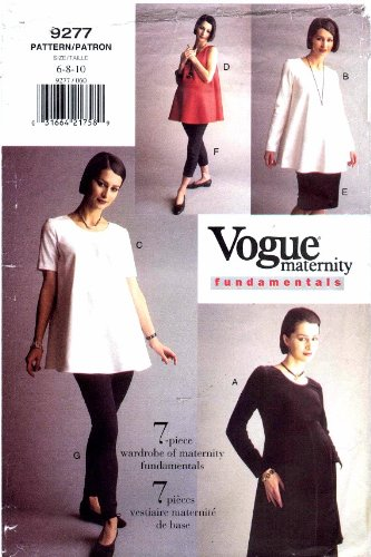 Vogue 9277 Sewing Pattern Maternity Dress Tunic Skirt Leggings Size ...