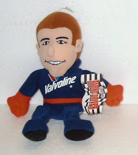 9 Plush Racing Driver Valvoline #6 Mark Martin; Plush Stuffed Bean Bag Toy Doll by Roush Racing