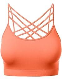 Women's Seamless Triple Criss-Cross Front Bralette Sports...
