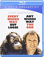 Right turn, Clyde! Clint Eastwood stars as bare-knuckle fighter and good ol' boy Philo Beddoe, sharing the screen with sidekick Clyde the orangutan in the two wild (and wildly popular) action comedies Every Which Way but Loose and Any Which W...