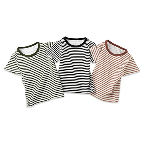 girocollo bambini per manica per estiva cotone righe shirt a uomo corta T Maglietta bambini Et per shirt a in T IXB1ZZ
