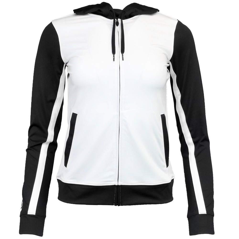 ASICS Unisex-Child Jr. Lani Jacket, White/Black, Large by ASICS