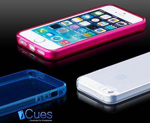 Apple iPhone SE / 5S / 5 | iCues TPU transparent Jaune | [Protecteur d'écran, y compris] protecteur de feuille transparente Temps clair de gel de silicone Housse étui de protection couverture Coque Ho