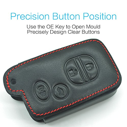 Compatible with fit for Toyota Avalon Camry Corolla Highlander Prius RAV4 Venza HYQ14ACX HYQ14AAB HYQ12ACX HYQ14AEM 4-buttons Leather Keyless Entry Remote Control Key Fob Cover Case Protector Shell