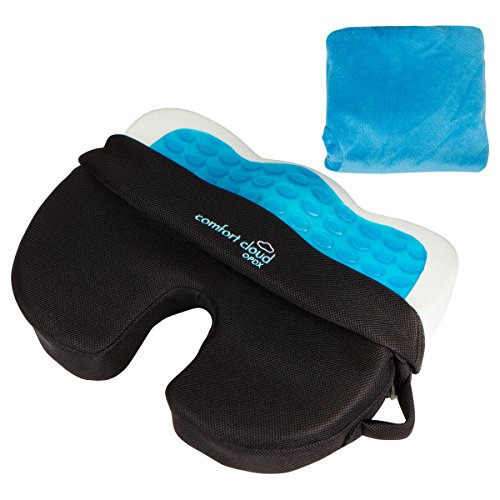 Comfort Cloud OPDX Coccyx Hybrid Gel, Breathable Mesh, Memory Foam Non-Slip Bottom Seat Cushion with - Seat Gel Cushion Coccyx