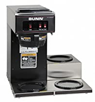 BUNN 13300.0013 VP17-3BLK3L Pourover Commercial Coffee Brewer with Three Lower Warmers, Black