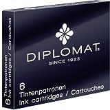 Diplomat Fountain Pen Royal Blue Ink Cartridges (Qty 6)