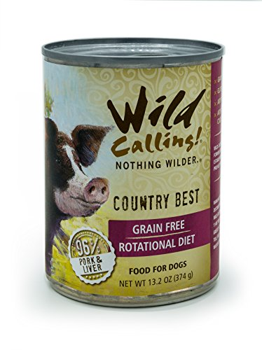 Cheap Wild Calling! Country Best Pork Recipe, Natural Flavor, Wet Canned Dog Pet Food – Grain and Gluten Free – 12 x 13 oz.