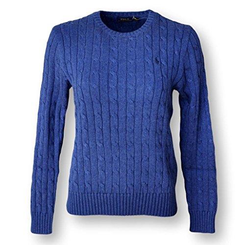 Tan Turtleneck Sweater - POLO RALPH LAUREN WOMEN'S CABLE-KNIT COTTON SWEATER, BLUE, XL