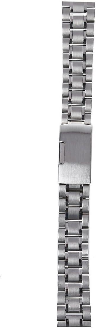 Sodial 18 mm Venda De Reloj De La Correa De Acero Inoxidable Solido Con Hebilla Del Despliegue - Color Plata