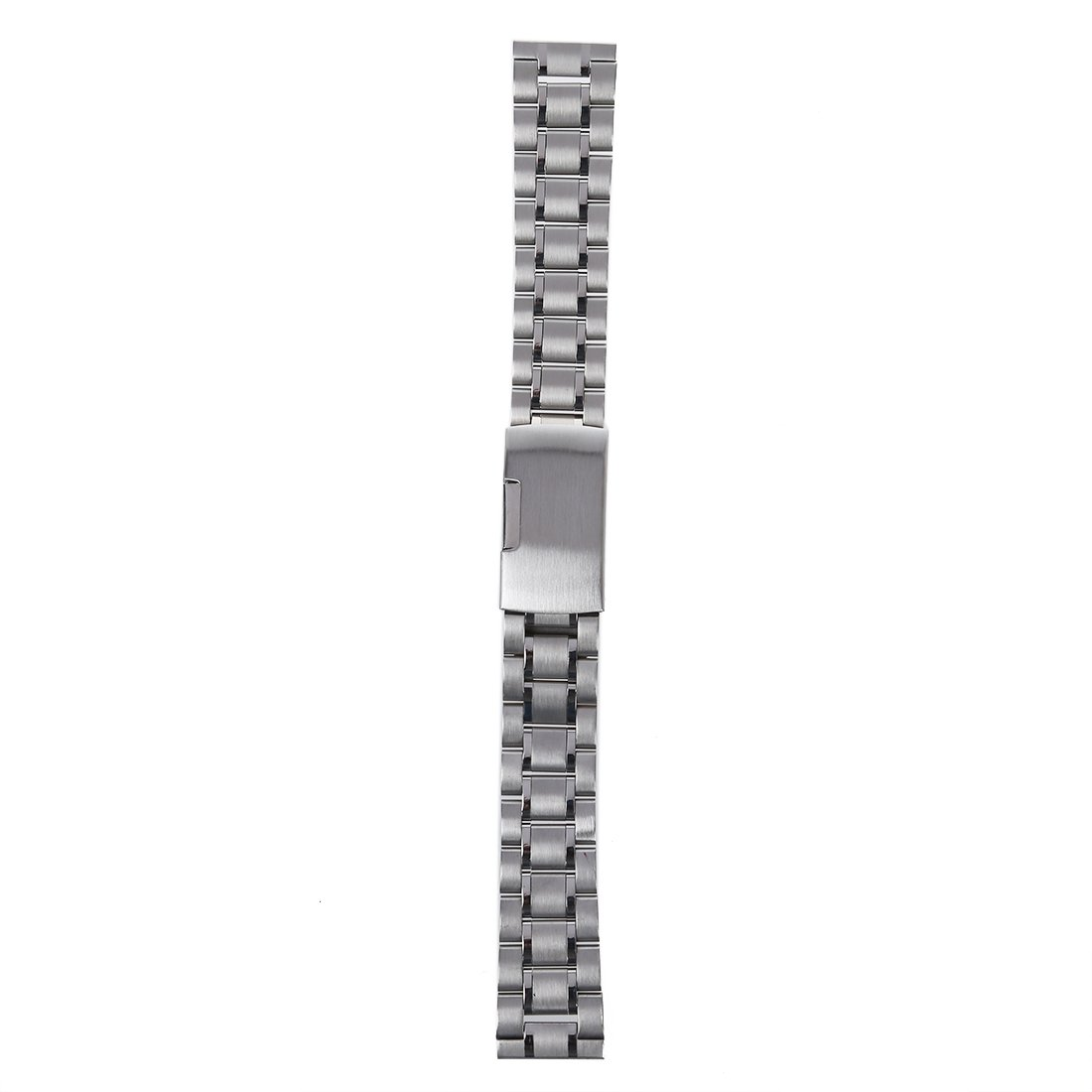 Sodial 18 mm Venda De Reloj De La Correa De Acero Inoxidable Solido Con Hebilla Del Despliegue - Color Plata: Amazon.es: Relojes