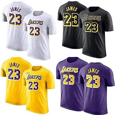 Zxwzzz Camiseta De La NBA Los Angeles Lakers James # 23 ...
