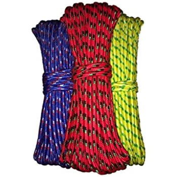 """Diamond Braid Utility Rope - 100 ft x 3/8"""" General All Purpose Rope - Assorted Colors"""