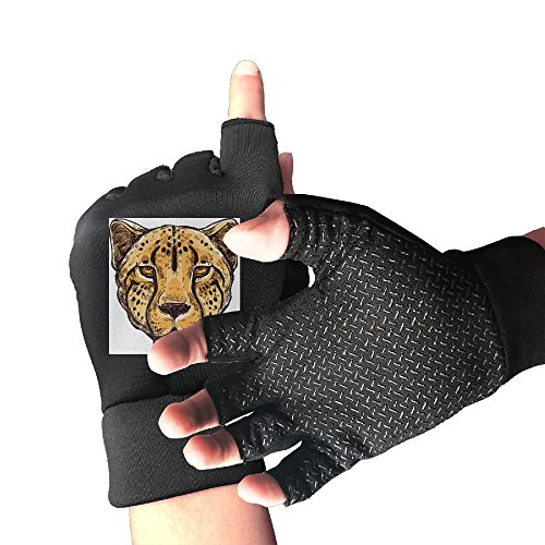Animal African Mammal Cheetah Breathable   Non Slip Men Women Racing Cycling Fitness Exercise Gloves