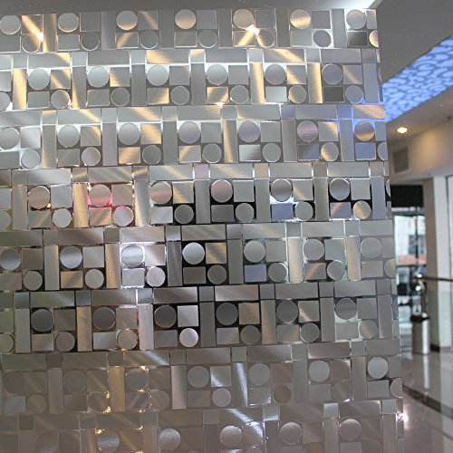 17.7-by-72-Inch Leyden Cut Glass Geometric No-Glue 3D Static Decorative Glass Window Films