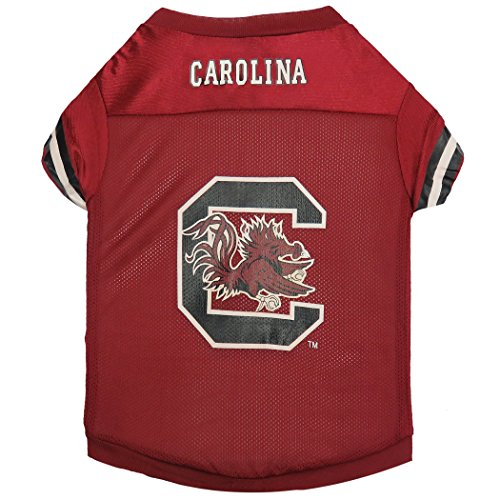 Sporty K9 Collegiate South Carolina Gamecocks Football Dog Jersey, XX-Small South Carolina Football