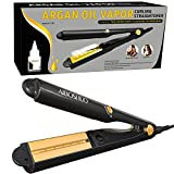 AIBOSHUO Steam Flat Iron Hair Straightener for Argan Oil Infusion Treatment, 1 Inch Professional Ceramic Hair Straightener with Auto Shut-Off and Dual Voltage