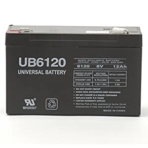 The BEST UPG Ub6120f2 Sla 6v 12ah .250 by UPG