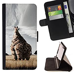 "Planetar? Modelo colorido cuero carpeta tir¨®n caso cubierta piel Holster Funda protecci¨®n Para Sony Xperia Z5 Compact Z5 Mini (Not for Normal Z5) ( Jirafa Arte Savannah Safari Arte ?frica Animal"" )"