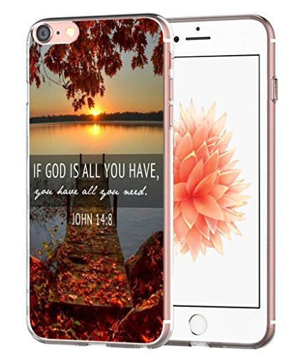 Case for 7 Bible Writings - Case for 8 - Topgraph [Exact Slim Fit Clear with Design Full Coverage] Bumper Compatible for iPhone 8/7 [Christian