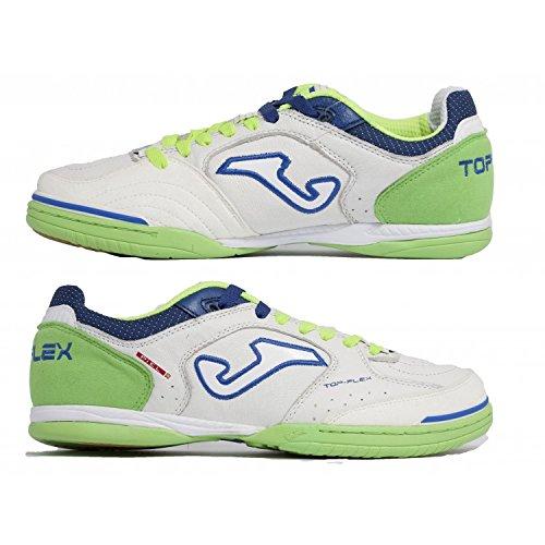 Joma , Herren Futsalschuhe Weiß WHITE/FLUOR weiß,grün,blau