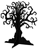 "14.5"" Haunted Tree Glitter Black Halloween Centerpiece Party Table Decoration"