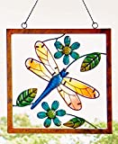 Stained Glass and Metal Outdoor Art Dragonfly