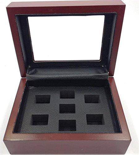 Melis-Championship Rings Display Cases Wooden Box (7 Holes) (Championship Box Ring)
