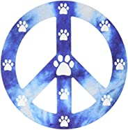 Imagine This 4-3/4-Inch by 4-3/4-Inch Peace Sign Car Magnet, Blue