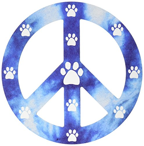 - Imagine This 4-3/4-Inch by 4-3/4-Inch Peace Sign Car Magnet, Blue