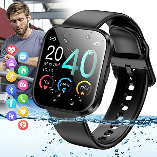 Peakfun Smart watch,Fitness Watch Activity Tracker IP67 Waterproof Sports Tracker Watch with Heart Rate Blood Pressure Monitor Bluetooth Smartwatch Touch Screen for Android iOS Phones Men Women Kids
