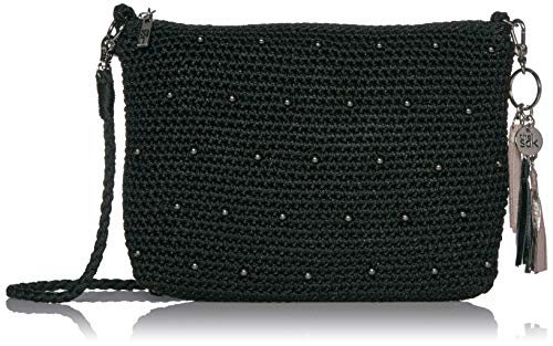 The Sak Casual Classics 3 in 1 Demi, Black sparkle Beads