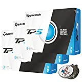 3 Dozen of TaylorMade TP5 White Golf Balls 2017 TP 5 + 1 Custom Ball Marker Hat Clip Set (American Eagle)