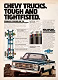 1977 Ad Chevy Chevrolet Pickup Truck Advertisement 1978 Diesel Engine Vehicle - Original Print Ad
