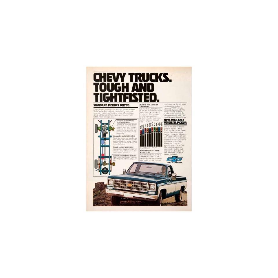 1977 Ad Chevy Chevrolet Pickup Truck Advertisement 1978 Diesel Engine Vehicle   Original Print Ad